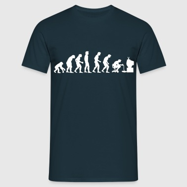gamers evolution - Herre-T-shirt