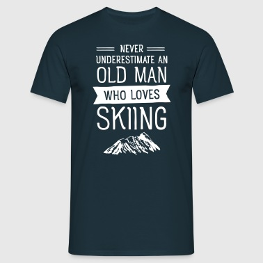 Old Man - Skiing (Vintage) - T-skjorte for menn
