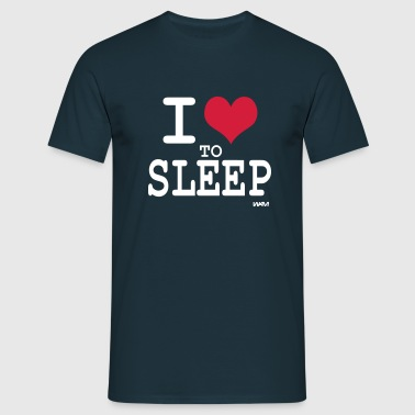i love to sleep by wam - T-shirt Homme
