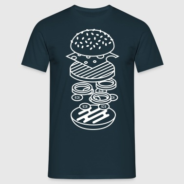 burger - Herre-T-shirt