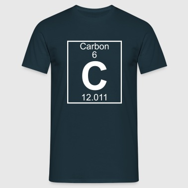 Periodic table element 6 - C (carbon) - BIG - Camiseta hombre