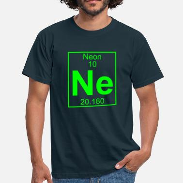 Blacklight Periodic table element 10 - Ne (neon) - BIG - Mannen T-shirt