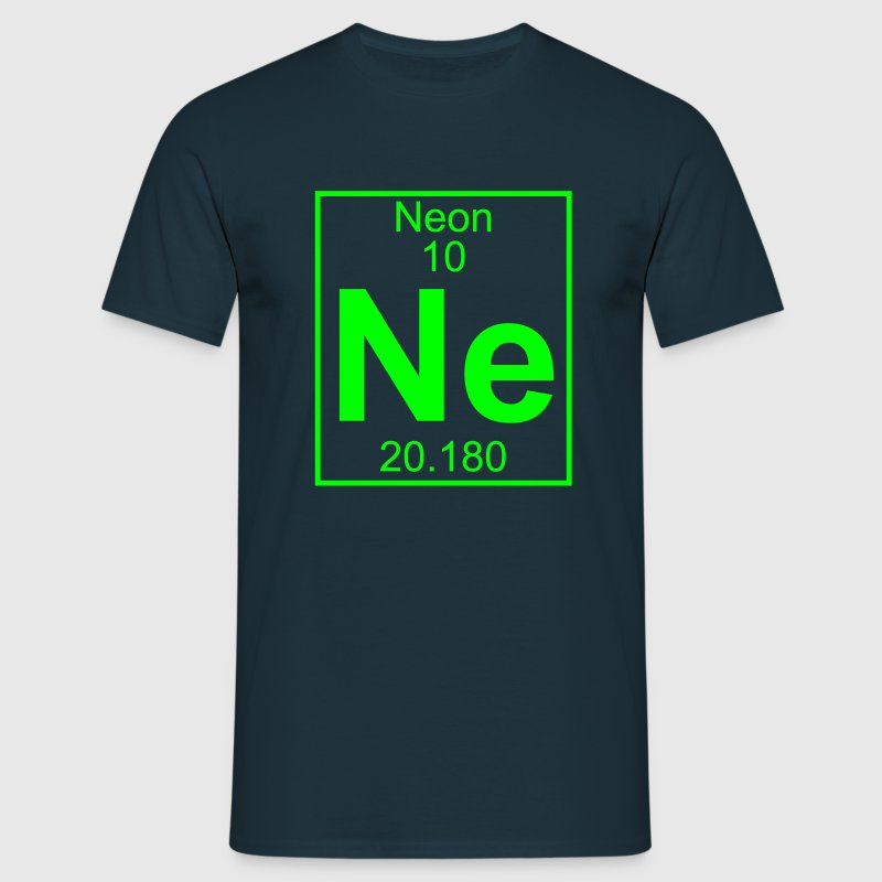 Periodic table element 10 - Ne (neon) - BIG - Mannen T-shirt