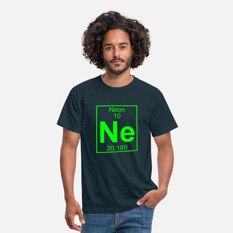Blacklight T-Shirts - Periodic table element 10 - Ne (neon) - BIG - Mannen T-shirt navy