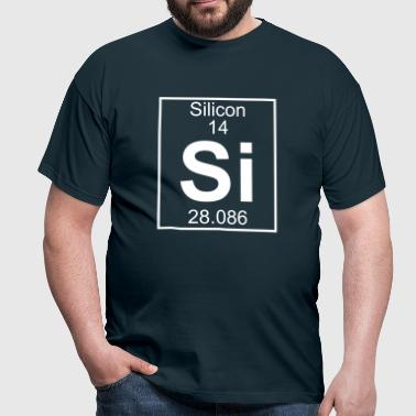 Periodic table element 14 - Si (silicon) - BIG - Maglietta da uomo