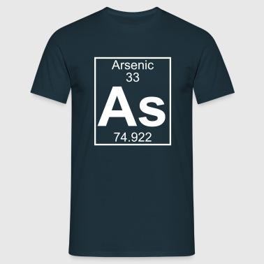 Periodic table element 33 - As (arsenic) - BIG - Camiseta hombre