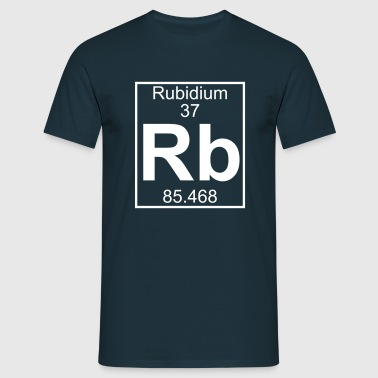 Periodic table element 37 - Rb (rubidium) - BIG - Männer T-Shirt