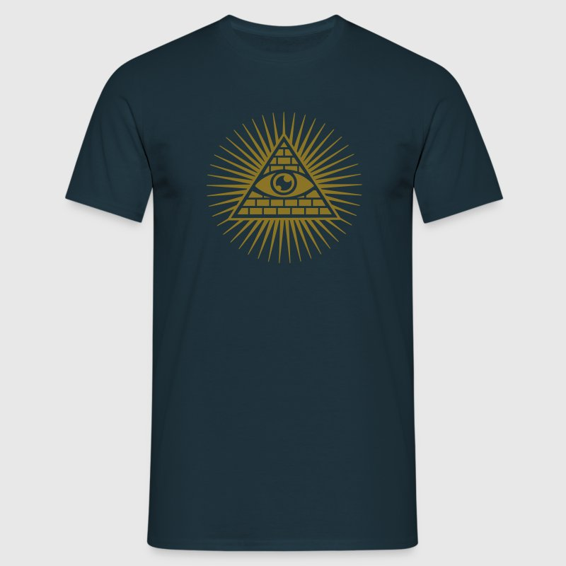 all seeing eye -  eye of god / pyramid - symbol of Omniscience & Supreme Being - Mannen T-shirt