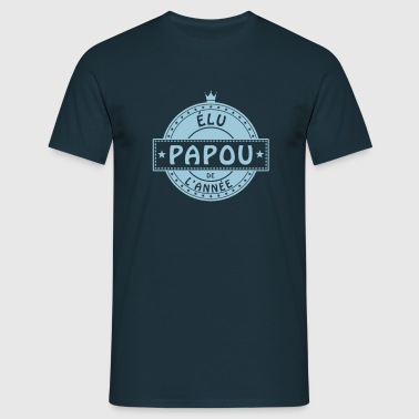élu papou father père papa dad παππούς - T-shirt Homme