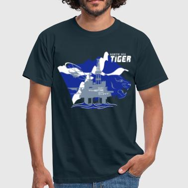 Oil Rig Oil Field North Sea Tiger Aberdeen - Men's T-Shirt