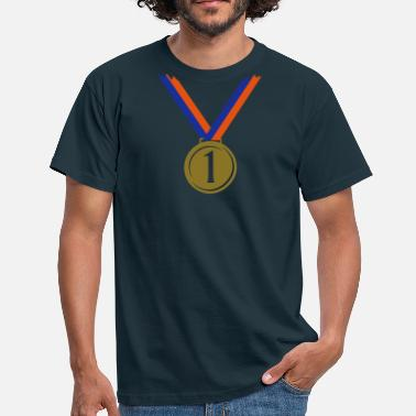 First Place Gold medal for first place V  - Men's T-Shirt
