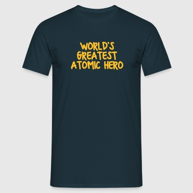 worlds greatest atomic hero - T-skjorte for menn
