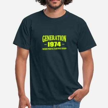 1974 Generation 1974 - Mannen T-shirt
