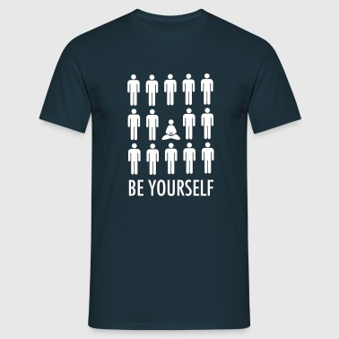 Be Yourself (Meditation) - T-shirt herr