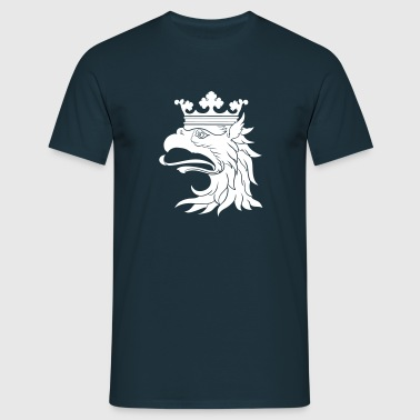 Heraldic Gryphon Head by H.A.D. - T-shirt herr