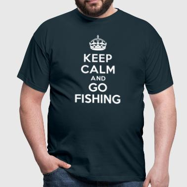 Keep calm and go fishing - T-shirt Homme