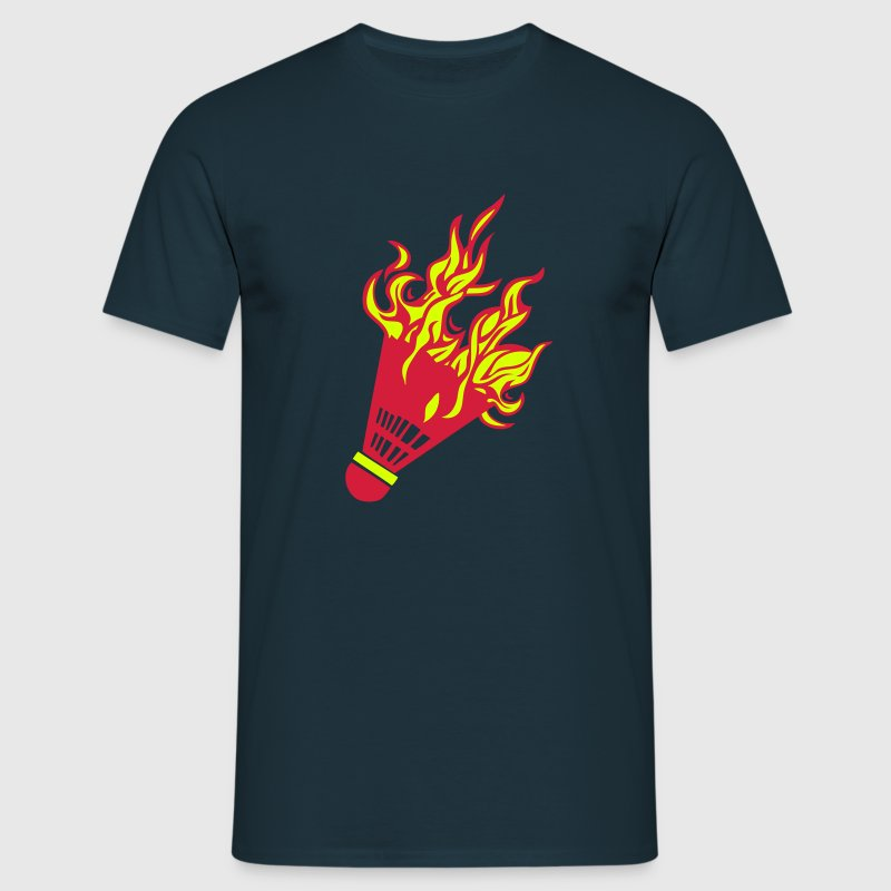 volant badminton flamme fire feu1 - Men's T-Shirt