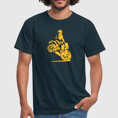 motorcycle stunt - Men's T-Shirt