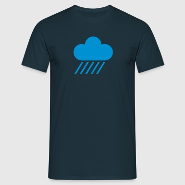 weather symbol - cloud & rain - Men's T-Shirt