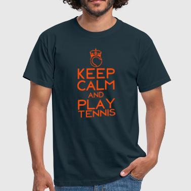 keep calm play tennis couronne balle - T-shirt Homme