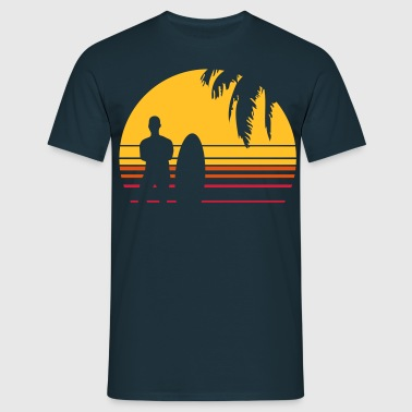 BEACH SURFING BOY PALME - Männer T-Shirt