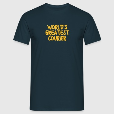 worlds greatest courier - Men's T-Shirt