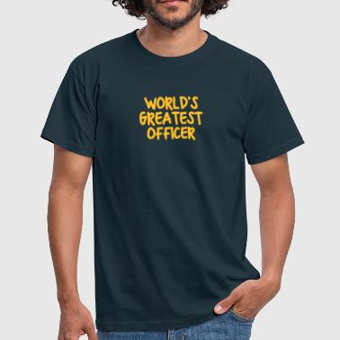 worlds greatest officer - T-shirt herr