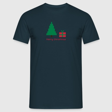 merry.christmas.8bit - Männer T-Shirt
