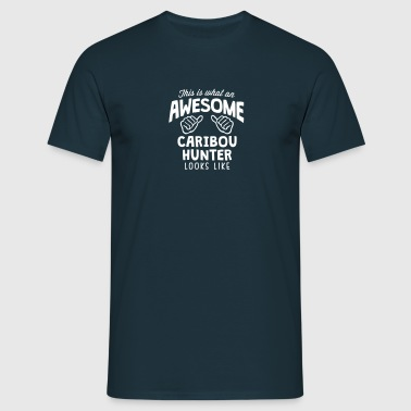 awesome caribou  looks like - Men's T-Shirt