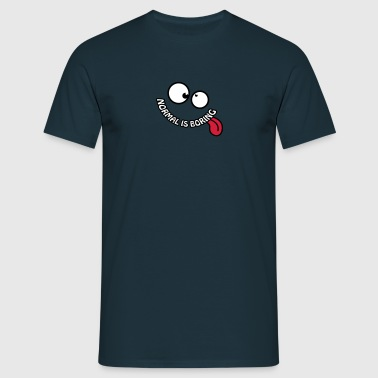 Normal Is Boring Smiley - Mannen T-shirt