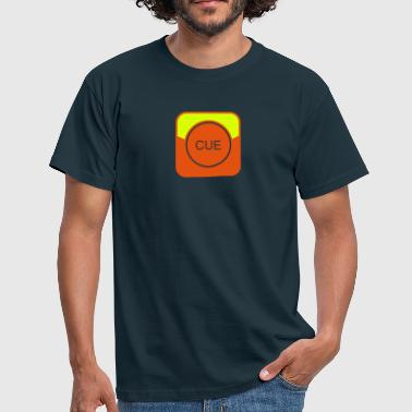 CUE Button - Symbol - Männer T-Shirt