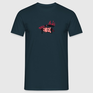 Kill And Grill Pig - T-shirt herr