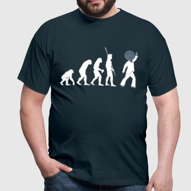 Evolution dancer with disco ball  - Men's T-Shirt