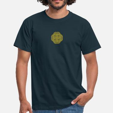 Celtic Dogs Gold Celtic Cross Ornament - Men's T-Shirt