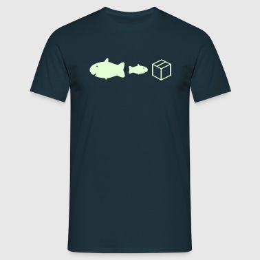 big fish little fish cardboard box - Men's T-Shirt