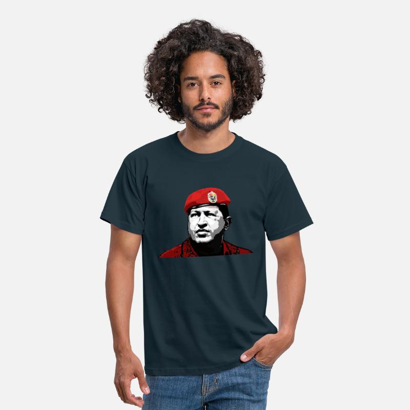 Venezuela T-Shirts - Hugo Chavez - Men's T-Shirt navy