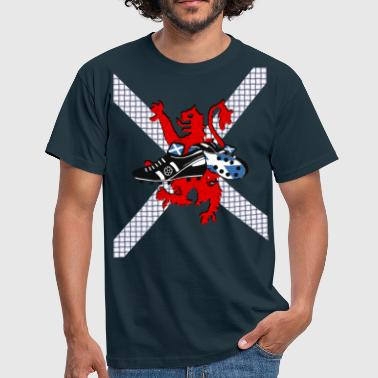 Scottish lion rampant football boots weave 2011 - Men's T-Shirt