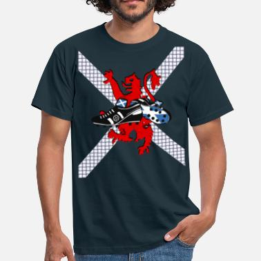 Lion Rampant Designs Scottish lion rampant football boots weave 2011 - Men's T-Shirt