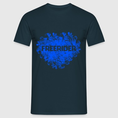 Freeriders coeur - T-shirt Homme