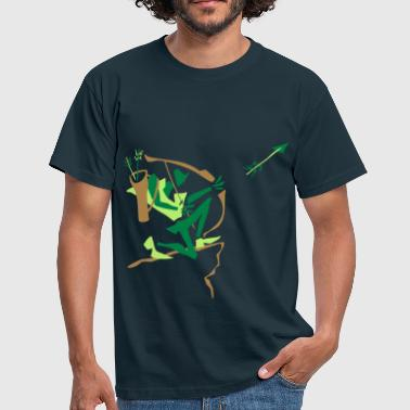 Archer Shooting Arrow – Sport Club - Men's T-Shirt
