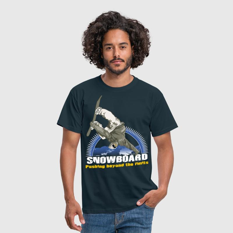 Snowboarder and sun - Men's T-Shirt