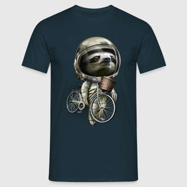 WITH MY BIKE ALONG - Herre-T-shirt