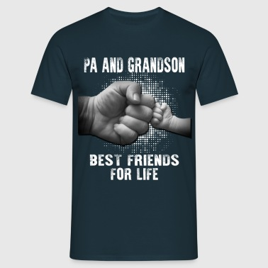 Pa And Grandson Best friends for Life - Men's T-Shirt