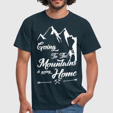 Etno Going To The Mountains Is Going Home - Men's T-Shirt