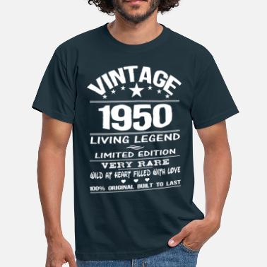 1950s VINTAGE 1950-LIVING LEGEND - Men's T-Shirt