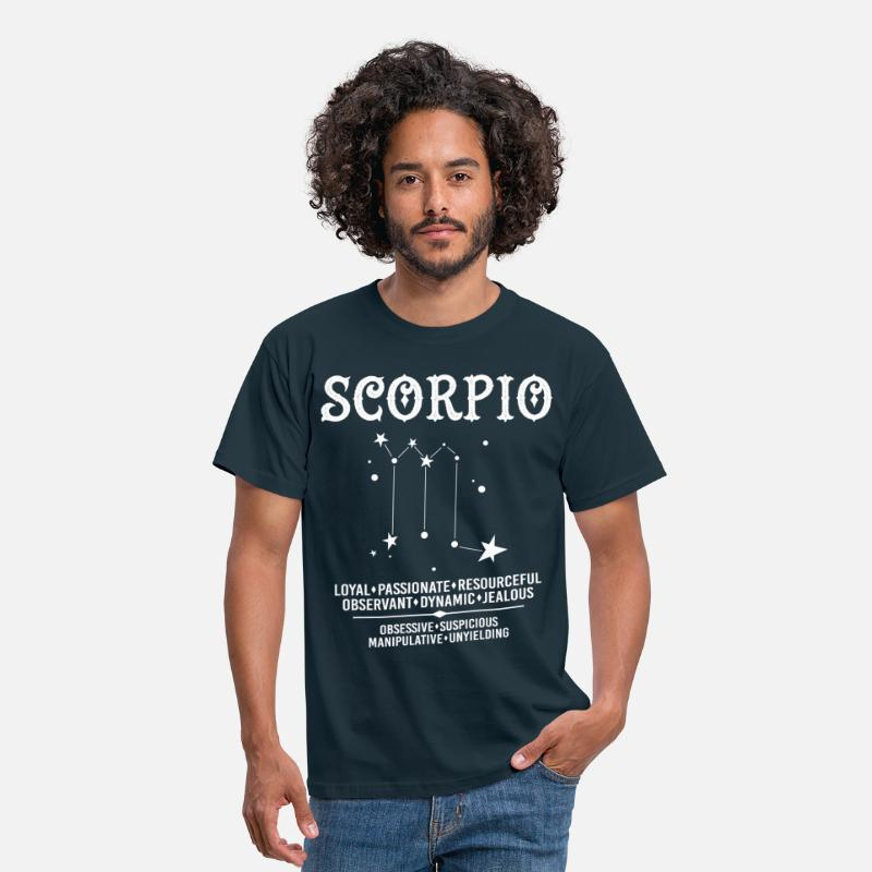 Scorpio T-Shirts - Scorpio Zodiac Sign - Men's T-Shirt navy