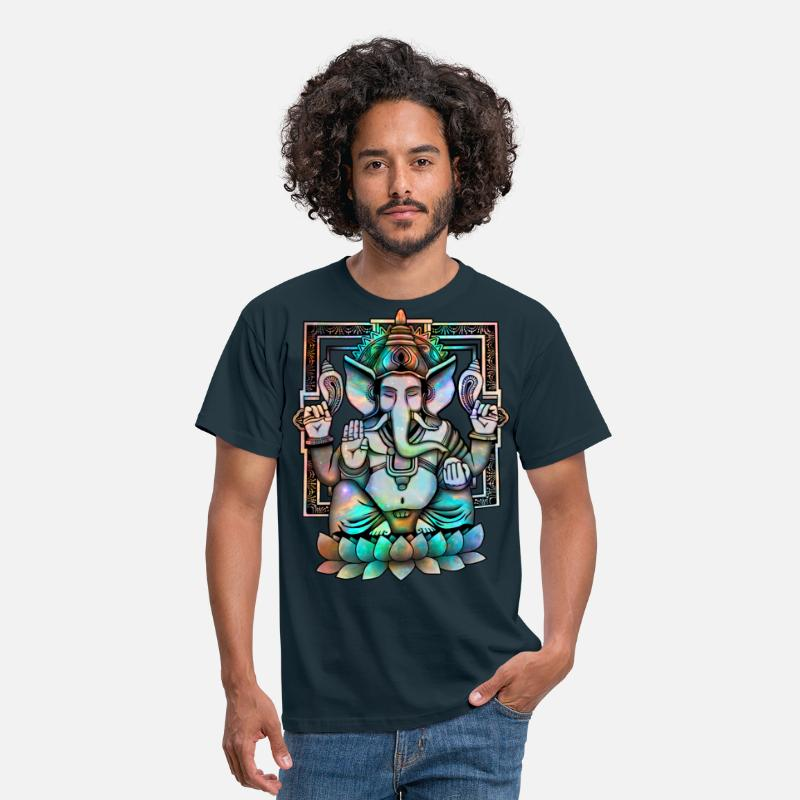 Collections T-Shirts - Cosmic Ganesh - Männer T-Shirt Navy