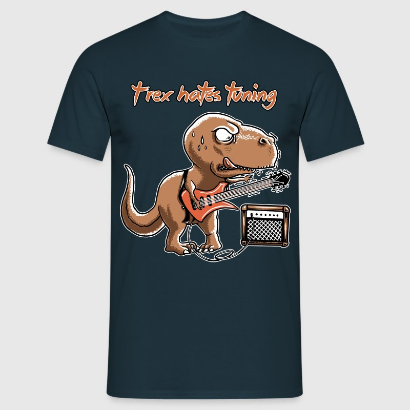 spreadmusic2015 T-Rex Hates Tuning - guitar rock - Men's T-Shirt
