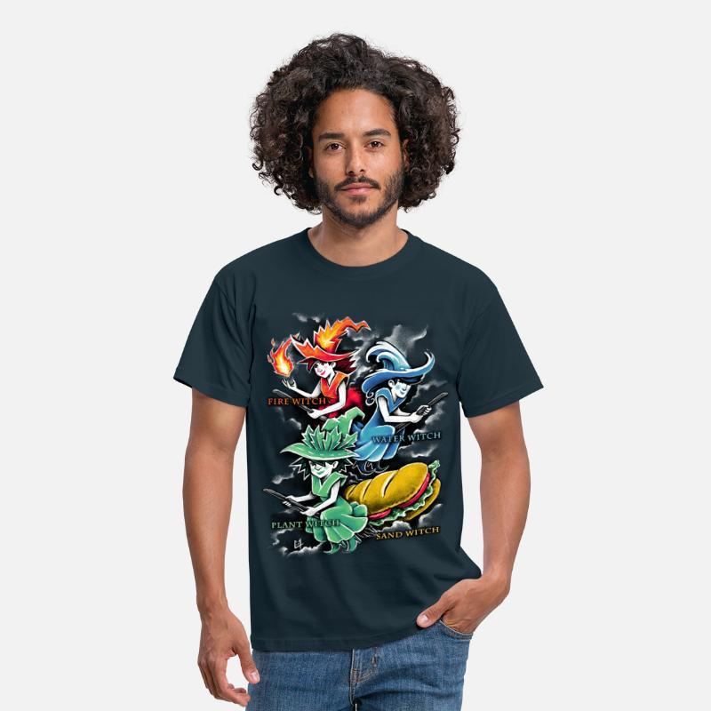Witch T-Shirts - Types of Witches - Men's T-Shirt navy