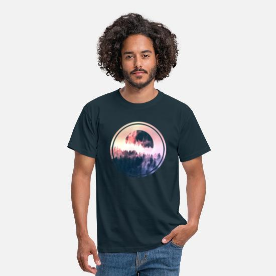 Nature Collection T-Shirts - Full Moon - Mannen T-shirt navy